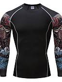 זול סוודרים וקרדיגנים לגברים-דפוס צווארון עגול טישרט - בגדי ריקוד גברים / שרוול ארוך