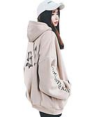 preiswerte Damen Kapuzenpullover & Sweatshirts-Damen Kapuzenshirt - Druck, Solide Baumwolle