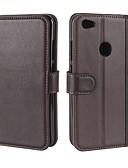 baratos Cachecol Feminino-Capinha Para Xiaomi Redmi Note 5A Carteira / Porta-Cartão / Com Suporte Capa Proteção Completa Sólido Rígida couro legítimo para Redmi Note 5A
