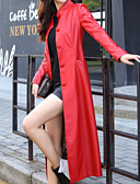 זול שמלות נשים-אחיד צווארון V מוצק יומי ארוך בלשית בגדי ריקוד נשים, חורף גדול כותנה אקריליק