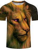 ieftine Maieu & Tricouri Bărbați-Bărbați Rotund Tricou Imprimeu