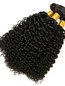 זול תחרה רומטנית-3 חבילות שיער ברזיאלי Kinky Curly שיער אנושי טווה שיער אדם 8-28 אִינְטשׁ שוזרת שיער אנושי תוספות שיער אדם בגדי ריקוד נשים / קינקי קרלי