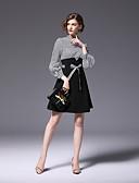זול עליוניות לנשים-עד הברך פסים - שמלה גזרת A נדן פעיל עבודה בגדי ריקוד נשים