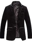 זול חולצות לגברים-Houndstooth בלייזר - בגדי ריקוד גברים כותנה / שרוול ארוך