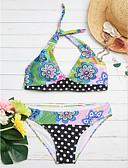 ieftine Bluză-Pentru femei Floral Bikini - Stil modern, Multicolor / Imprimeu reactiv / Sexy Tanga / Sutiene cu Bureți
