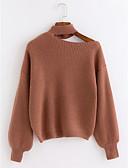 olcso Női pulóverek-Női Hosszú ujj Pulóver Egyszínű / Ősz / Tél