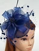 זול הינומות חתונה-עור / רשת מפגשים / פרחים / כובעים עם נוצות \ פרווה / פרחוני 1pc חתונה / אירוע מיוחד כיסוי ראש