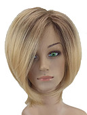 cheap Leggings-Synthetic Wig Straight Blonde Synthetic Hair Middle Part Blonde Wig Short Capless