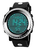 זול שעוני ילדים-SKMEI לזוג שעוני ספורט דיגיטלי 50 m עמיד במים לוח שנה שעון עצר PU להקה דיגיטלי פאר יום יומי אופנתי שחור - שחור כסף כחול / זוהר בחושך