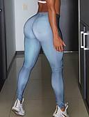 billige Leggings-Dame Ensfarvet Legging Ensfarvet Høj Talje