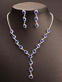 ieftine Eșarfe Femei-Pentru femei Zirconiu Cubic / Sapphire sintetic Set bijuterii - Picătură Clasic, Vintage, Elegant Include Cercei Picătură / Coliere Choker / Seturi de bijuterii de mireasă Albastru Pentru Nunt