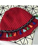 זול כובעים אופנתיים-שחור אודם אפור כהה בז' כחול נייבי כובע עם שוליים רחבים כותנה חורף סתיו יום יומי
