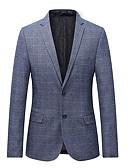 cheap Men's Downs & Parkas-Men's Plus Size Blazer - Plaid
