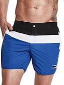 זול בגדי ים לגברים-קולור בלוק, צבע מעורב - חלקים תחתונים בגדי ריקוד גברים