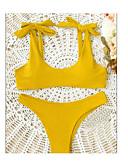 cheap Women's Swimwear & Bikinis-Women's Halter Neck Bikini - Solid Color Backless