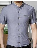זול חולצות לגברים-אחיד צווארון עומד(סיני) סגנון רחוב חולצה - בגדי ריקוד גברים