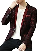 cheap Men's Blazers & Suits-Men's Plus Size Blazer - Print