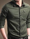tanie Męskie koszule-Koszula Męskie Bawełna Jendolity kolor / Długi rękaw