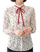 preiswerte Hemd-Damen Blumen - Street Schick Arbeit Hemd, Ständer Schleife