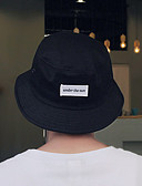 זול כובעים אופנתיים-לבן שחור כובע שמש כותנה קיץ יום יומי