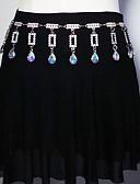 זול חגורות אופנתיות-ריקוד בטן רגיל בגדי ריקוד נשים הדרכה מתכת חגורה אביזר למותניים