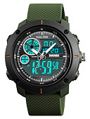 cheap Dress Watches-SKMEI Men's Sport Watch / Fashion Watch / Military Watch Japanese Alarm / Calendar / date / day / Chronograph PU Band Casual / Fashion Black / Green / Grey / Water Resistant / Water Proof / Stopwatch