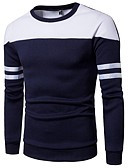povoljno Muške majice i potkošulje-Muškarci Dugih rukava Slim Sportska majica Color block Okrugli izrez / Molimo odaberite broj veću veličinu od vaše normalne veličine.