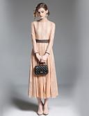 tanie Sukienki-Damskie Wyjściowe Podstawowy Szczupła Pochwa Sukienka - Solidne kolory, Koronka Golf Midi