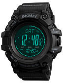 cheap Sport Watches-SKMEI Men's Sport Watch Military Watch Unique Creative Watch Japanese Digital 50 m Chronograph Thermometer Compass PU Band Digital Luxury Fashion Black / Green - Black / Red Blue / Black Green One