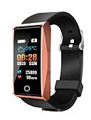 זול שעונים מכאניים-חכמים שעונים Mate1 ל Android 4.4 / iOS בלותוט' / עמיד במים / גע בחיישן / מד צעדים / בקרת APP Tracker דופק / מד צעדים / מזכיר שיחות / מד פעילות / מעקב שינה / תזכורת בישיבה / Alarm Clock / חיישן אצבע