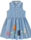 tanie Sukienki dla dziewczynek-Brzdąc Dla dziewczynek Prosty / Zabytkowe Jendolity kolor Plisy Długi rękaw Len / Włókno bambusowe Sukienka
