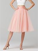preiswerte Hochzeitskleider-A-Linie Knie-Länge Tüll Brautjungfernkleid mit Schleife(n) durch LAN TING BRIDE®