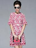 זול שמלות נשים-רקום, פרחוני - שמלה גזרת A משוחרר בגדי ריקוד נשים
