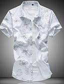 זול טישרטים לגופיות לגברים-פרחוני רזה סגנון רחוב חולצה - בגדי ריקוד גברים / שרוולים קצרים