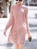זול חצאיות לנשים-עומד Ruched, פרחוני - שמלה גזרת A בגדי ריקוד נשים
