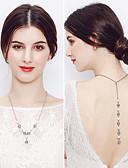 voordelige Damesrokken-Dames Hangertjes ketting - Parel Drop Europees, Modieus Zilver Kettingen Voor Bruiloft, Dagelijks
