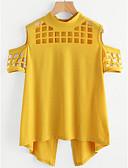 abordables Blusas para Mujer-Mujer Vintage Blusa Un Color