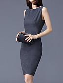 tanie Sukienki-Damskie Moda miejska / Wyrafinowany styl Szczupła Spodnie - Solidne kolory Patchwork Szary / Impreza / Praca / Seksowny