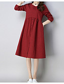 cheap Leggings-Women's Loose Loose Dress - Plaid Ruched High Waist / Spring / Summer