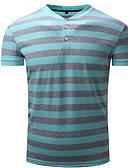זול טישרטים לגופיות לגברים-פסים צווארון חולצה סגנון רחוב טישרט - בגדי ריקוד גברים דפוס / שרוולים קצרים