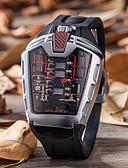 billige Hatter til damer-Herre Hverdagsklokke Moteklokke Unike kreative Watch Quartz Svart Vannavvisende Kalender Hverdagsklokke Analog-digital Fritid - Grønn Blå Sølv / Rød