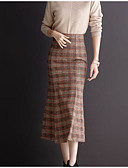 זול חצאיות לנשים-קפלים אחיד - חצאיות כותנה צינור מידות גדולות בגדי ריקוד נשים