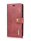 Недорогие Чехлы для телефонов-DG.MING Кейс для Назначение Sony Xperia XZ / Xperia XZ1 Бумажник для карт / со стендом / Флип Чехол Однотонный Твердый Настоящая кожа для Sony Xperia XZ1 / Sony Xperia XZ