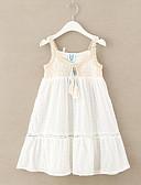 זול שמלות נשים-שמלה ללא שרוולים אחיד פעיל בנות ילדים / כותנה / חמוד