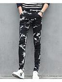 זול מכנסיים ושורטים לגברים-מכנסיים גיאומטרי ג'ינסים סגנון רחוב בגדי ריקוד גברים