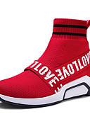 cheap Men's Shirts-Men's Cotton / Faux Leather Spring / Summer Comfort Athletic Shoes Walking Shoes Black / Red