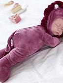 billige Kjoler-Plysjdukke Baby 14 tommers Silikon / Vinyl - Spill Lullaby Barne Jente Gave