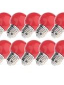 tanie Sukienki-YouOKLight 10 szt. 3 W 200 lm E26 / E27 Żarówki LED kulki 8 Koraliki LED Dip LED Dekoracyjna Czerwony / Niebieski / Żółty 220-240 V