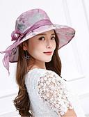 abordables Sombreros de  Moda-Mujer Encaje Lazo Sombrero para el sol Floral