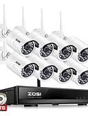 cheap Women's Shirts-ZOSI® 1080P Wireless CCTV System 2TB HDD 2MP 8CH NVR IP IR-CUT CCTV Camera Security System Surveillance Kits